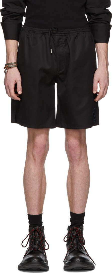 Alexander McQueen Black Embroidered Shorts