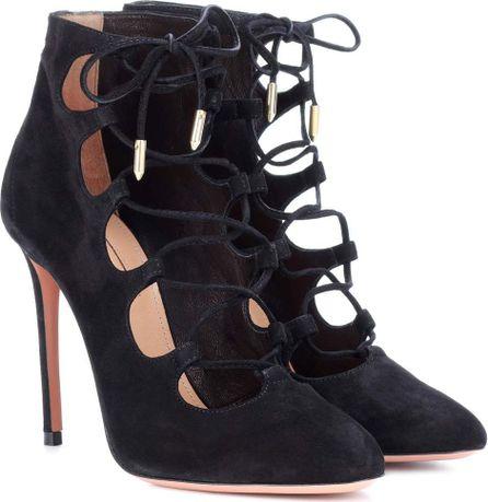 Aquazzura Flirt suede ankle boots