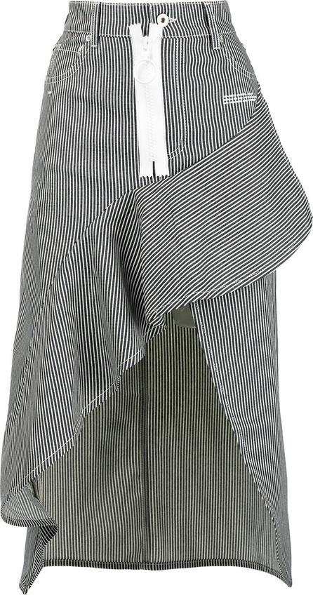 Off White Striped asymmetric skirt