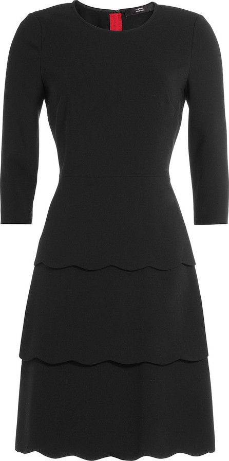 Steffen Schraut Three-Quarter Sleeve Tiered Dress