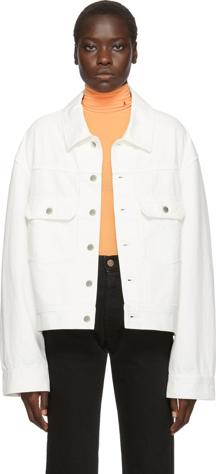 Ambush White Denim Logo-Stamped Jacket