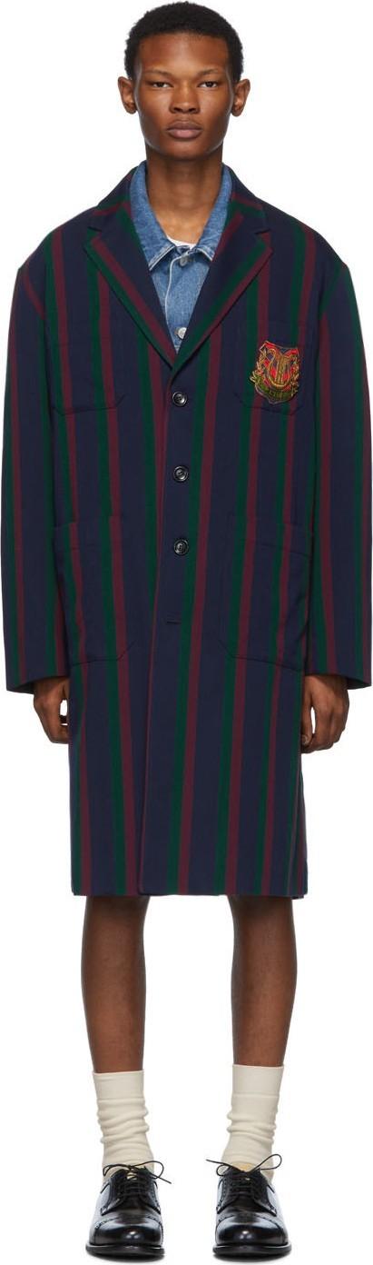 Gucci Blue Crest Coat