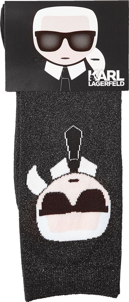 Karl Lagerfeld Socks with Metallic Thread
