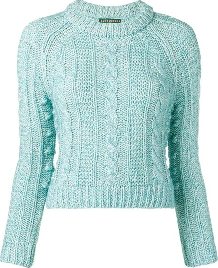 Alexachung cable-knit crew neck jumper