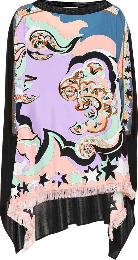 Emilio Pucci Printed silk poncho