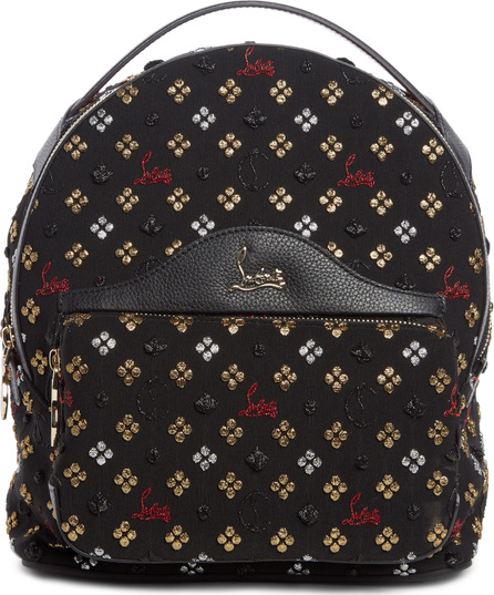 Christian Louboutin Small Backloubi Metallic Jacquard Backpack