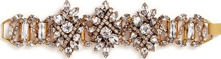 Erickson Beamon 'Parlor Trick' 24k gold plated Swarovski crystal bracelet