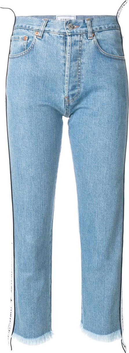 Forte Couture side band cropped jeans