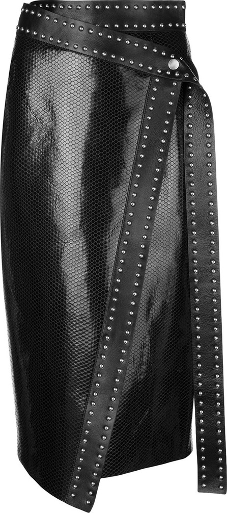 Alexander McQueen Leather studded skirt