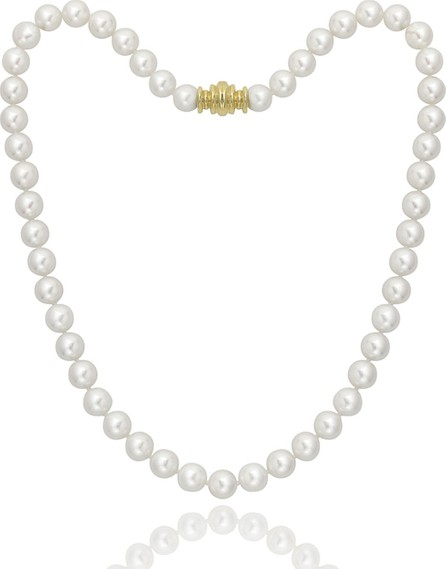 """Assael Short Akoya 8mm Pearl-Strand Necklace w/ 18k Gold, 16""""L"""