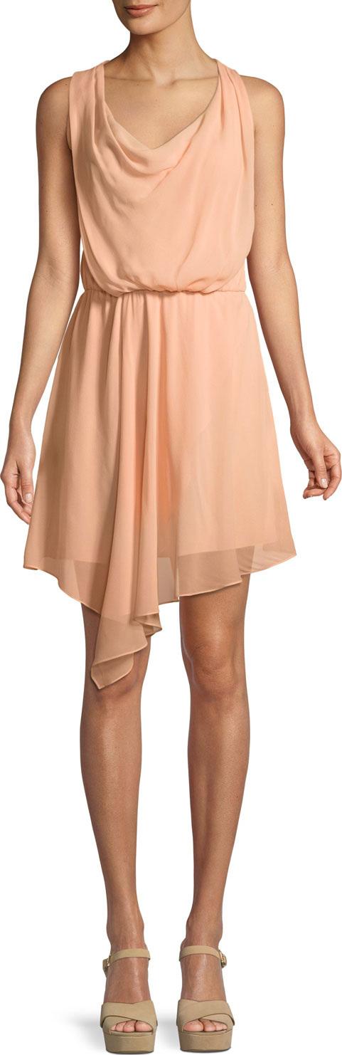 Haute Hippie - Warm Breeze Sleeveless Asymmetric Silk  Dress