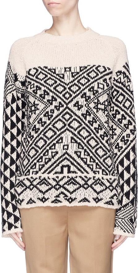 Acne Studios 'Rhia' colourblock graphic jacquard sweater