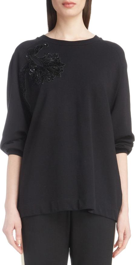 Dries Van Noten Floral Sequin Sweatshirt