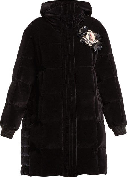 4 Moncler Simone Rocha Margareth padded velvet hooded coat