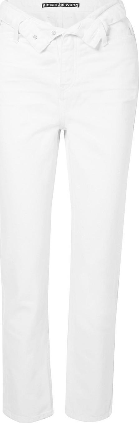 Alexander Wang Cult Flip fold-over high-rise straight-leg jeans