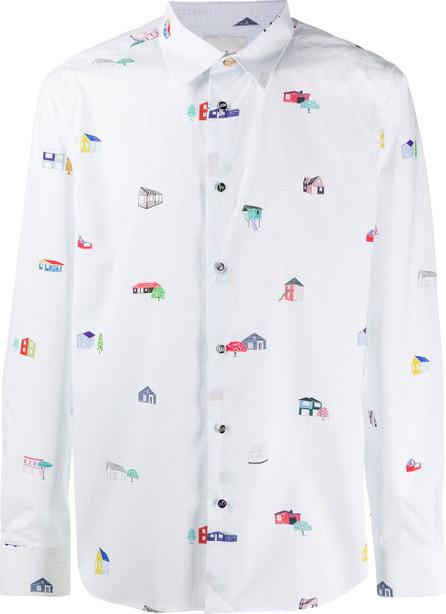 Paul Smith House-print cotton shirt