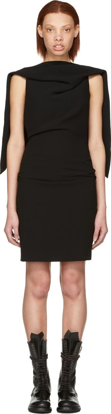 Gareth Pugh Black Triangle Backless Dress