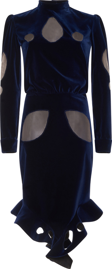 Francesco Scognamiglio Long Sleeve Velvet Dress