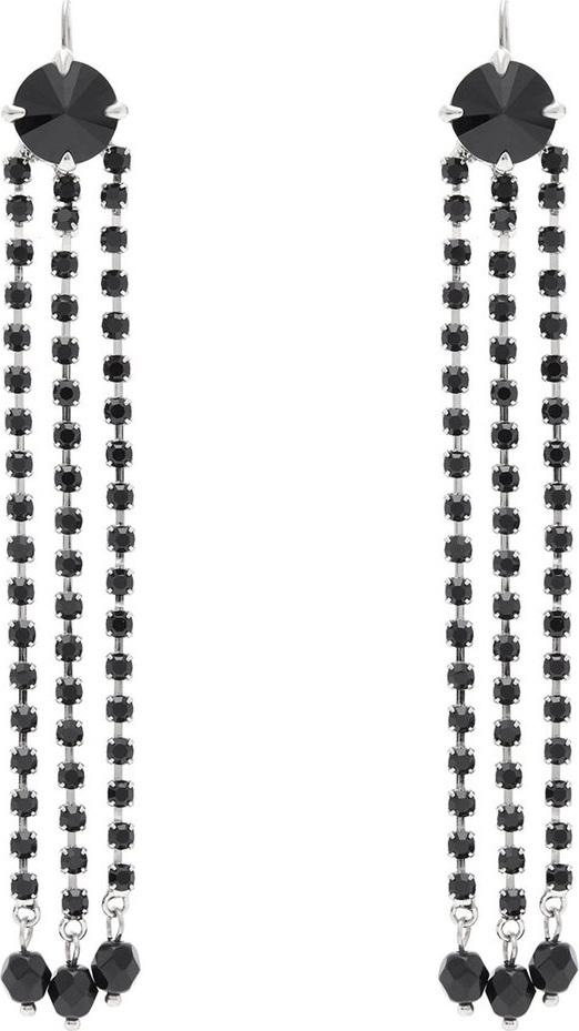 Miu Miu - Crystal-tassel drop earrings
