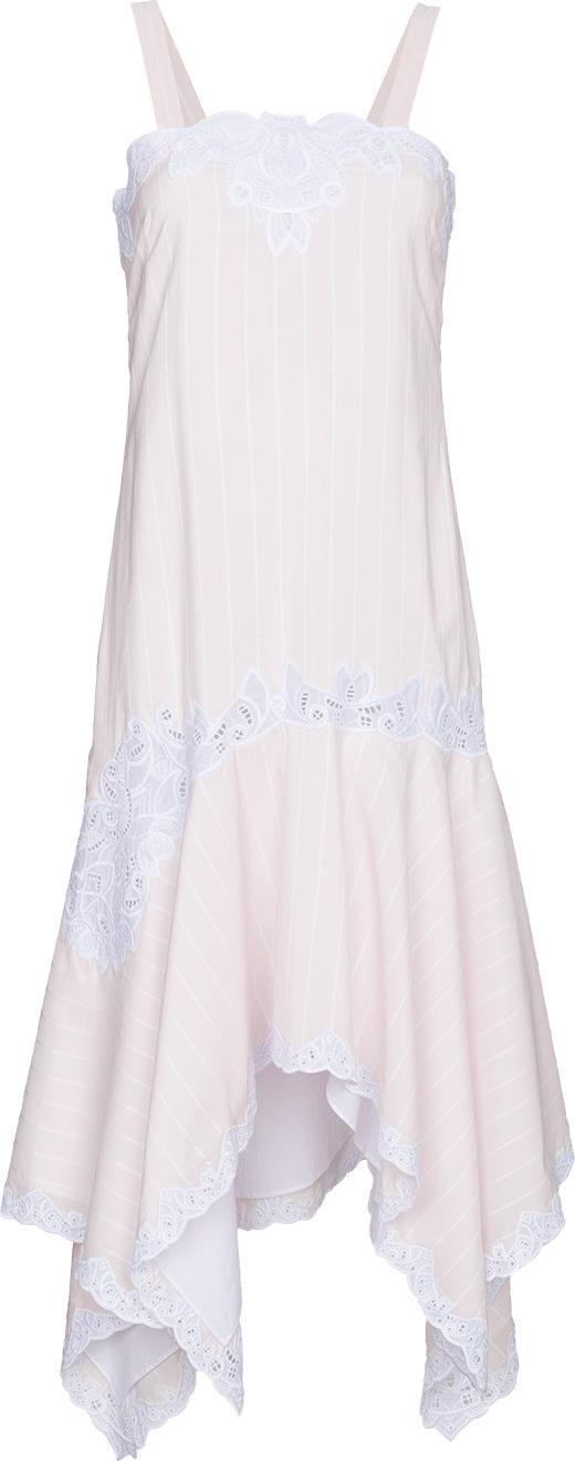 Jonathan Simkhai - Asymmetric dress with scallop edge embroidery
