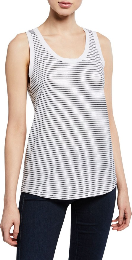 AG Jeans Cambria Striped Scoop-Neck Tank