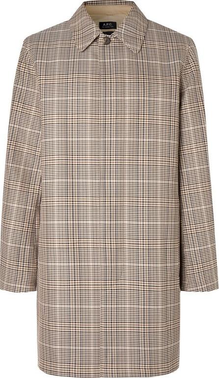 A.P.C. Stefano Checked Cotton-Twill Coat