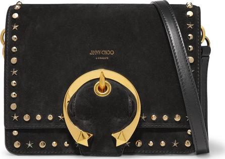 Jimmy Choo Madeline small studded suede shoulder bag