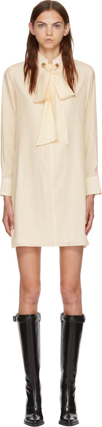 Chloe White Silk Dress