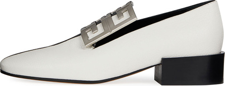 Givenchy Bicolor Leather High-Vamp Loafer with 4G Logo