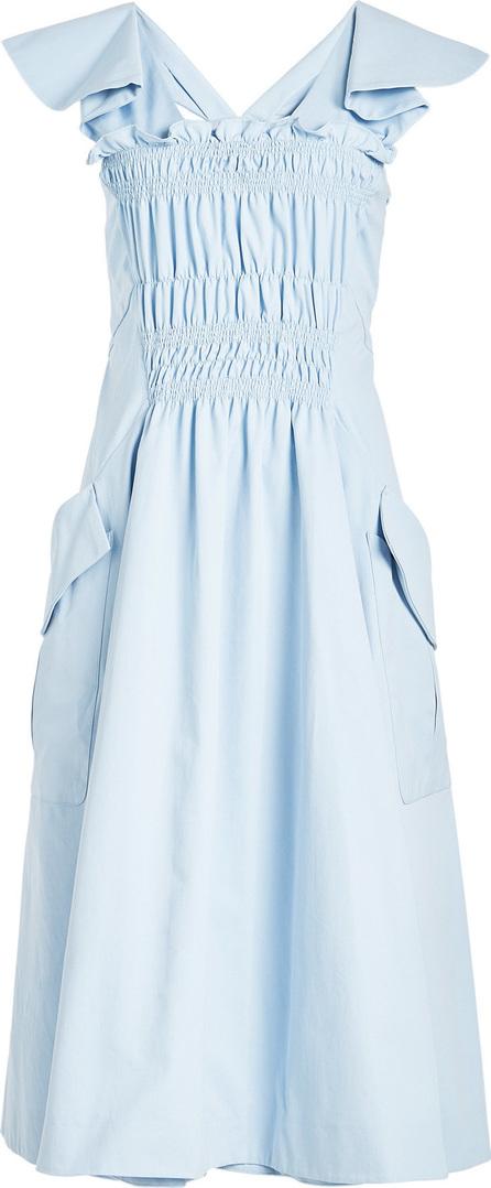 Carven Ruched Cotton Dress