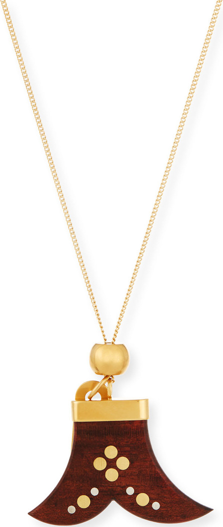 Chloe Janis Wooden Pendant Necklace