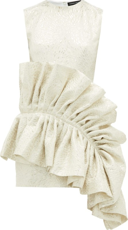 Germanier Ruffled upcycled brocade dress