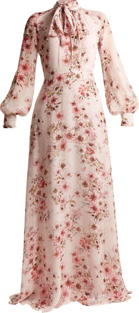 Giambattista Valli Anemone silk-georgette gown