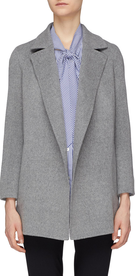 Theory 'Clairene' open front wool-cashmere melton coat