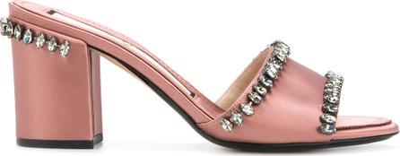 Nº21 Crystal embellished mid-heel sandals