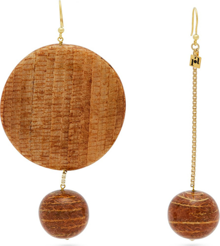 Rosantica Mismatched bamboo drop earrings