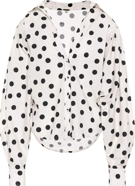 Johanna Ortiz Exclusive to mytheresa.com – Samoa polka-dot cotton top