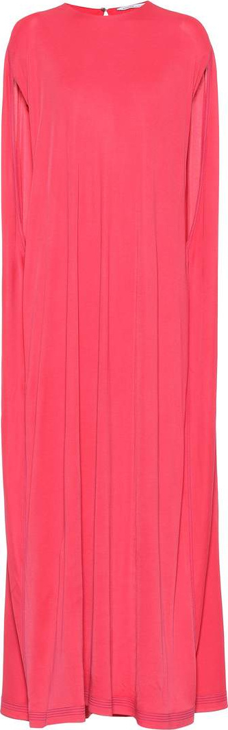 Agnona Sleeveless silk-blend cape dress