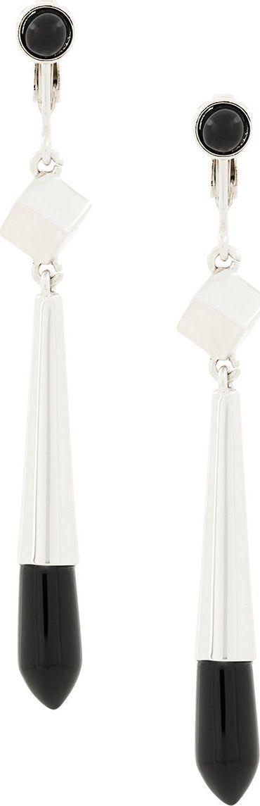 Jil Sander embellished drop earrings