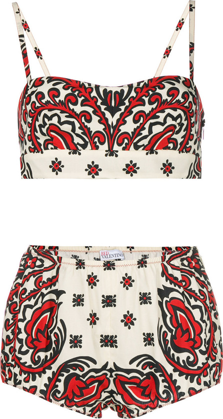 RED Valentino Bandana print lingerie set