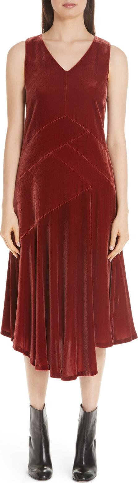 Lafayette 148 New York Ashlena Asymmetrical Velvet Dress