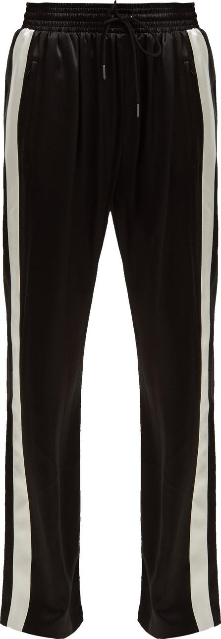 Burberry London England Side-stripe silk-satin track pants