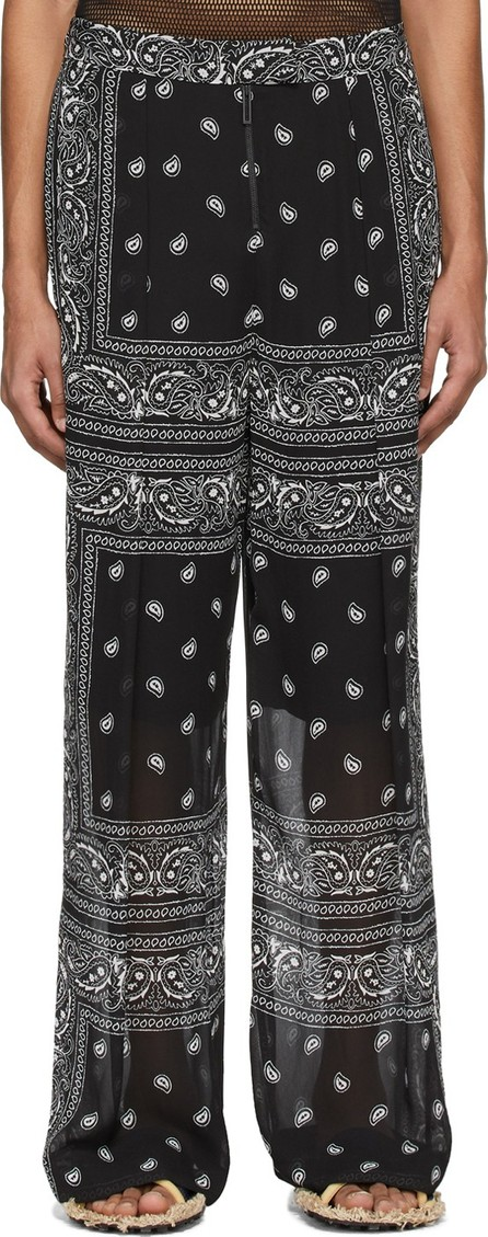 Dion Lee Black & White Paisley Scarf Trousers