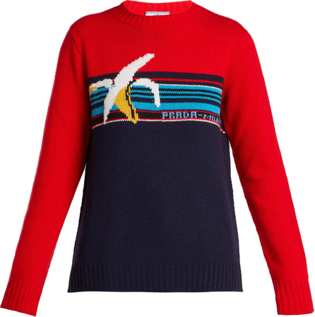Prada Banana-intarsia wool sweater