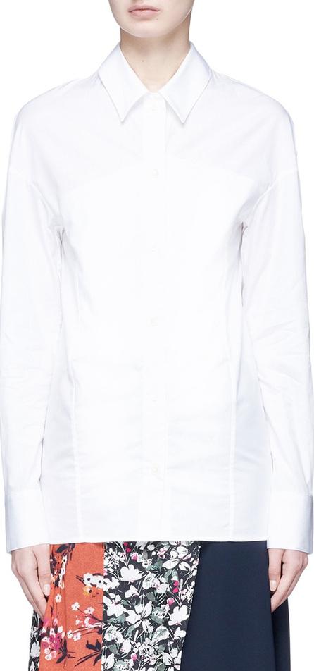 Aalto Layered front poplin shirt