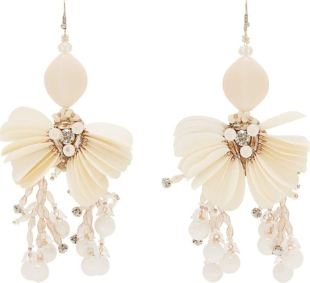 Biyan Toby beaded-flower drop earrings