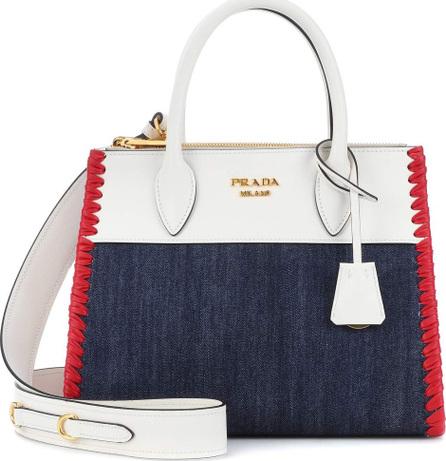 Prada Paradigme leather and denim handbag
