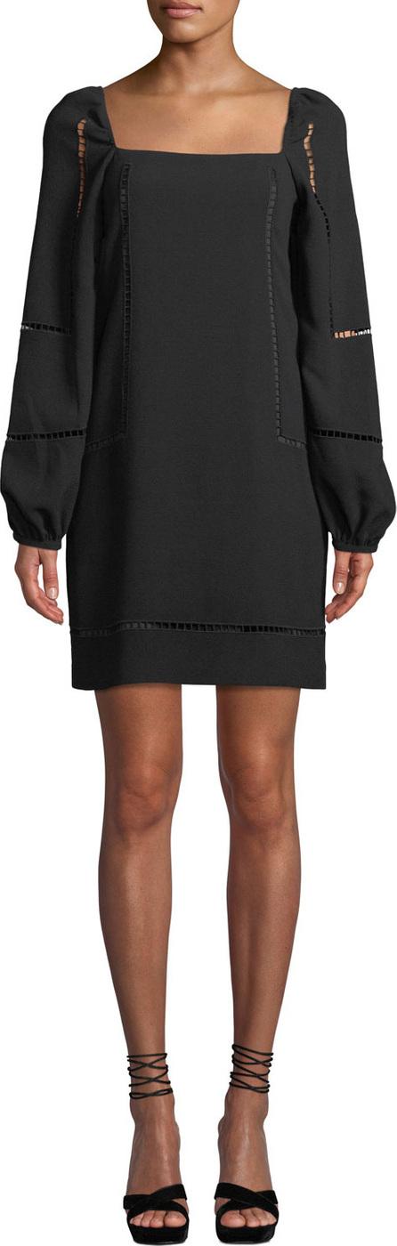 Trina Turk Natalia Bubble-Sleeve Mini Dress