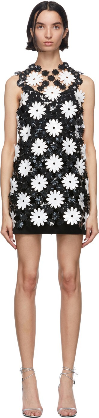 Paco Rabanne Black & White Daisy Mini Dress