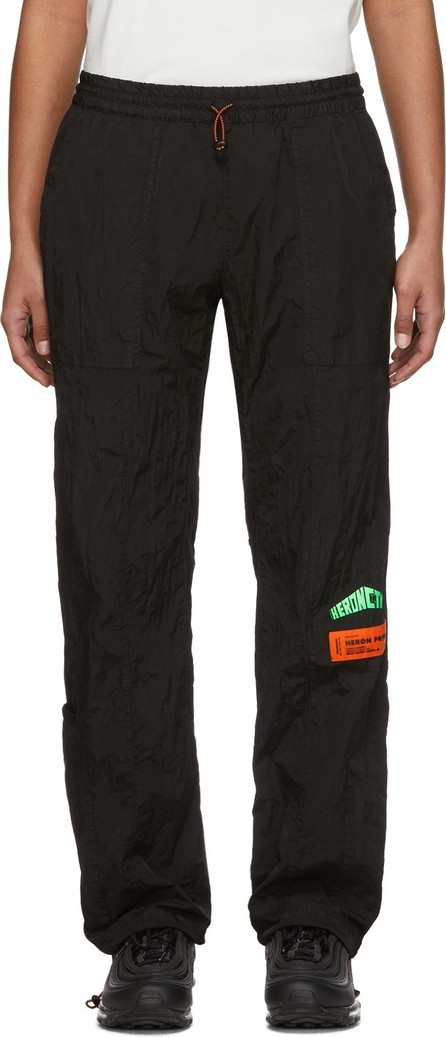 Heron Preston Black Taffeta Lounge Pants
